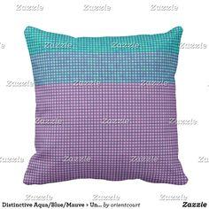Distinctive Aqua/Blue/Mauve > Uncommon Pillows