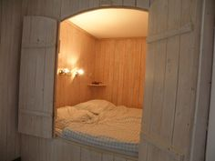 Schrankbett - Alkoven Small Room Bedroom, Home Bedroom, Bedroom Decor, White Interior Design, Restaurant Interior Design, Sleeping Nook, Box Bed, Room Planning, Interior Design Living Room