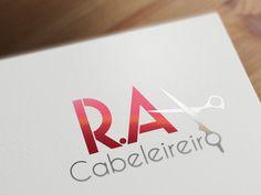 Logotipo desenvolvido para R.A Cabeleireiro