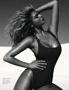 Kate Upton Sizzles in Vogue Spain July 2012 by Miguel Reveriego
