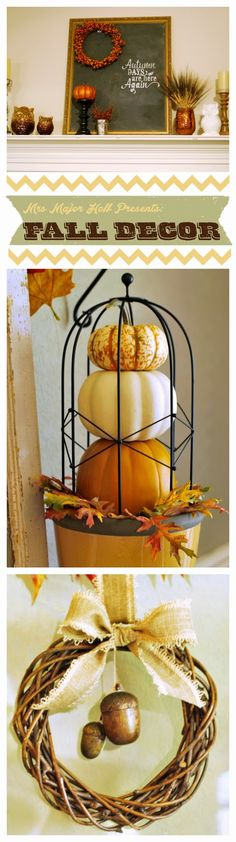 Touches of Autumn to bring the feeling of fall into your home decor! #homedecor #fall #autumn