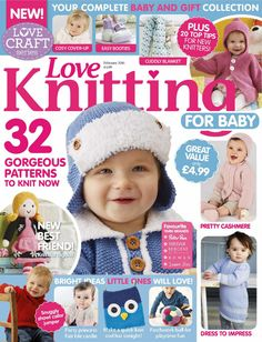 Love Knitting for Baby issue 29 Knitting Graph Paper, Love Knitting, Animal Knitting Patterns, Knitting Books, Crochet Books, Knitting For Kids, Knitting Designs, Baby Patterns, Knitting Projects