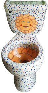 House toilets, and bath accessory collection includes and Mexican art Most classic colonial and Mexican folk patterns were inspired by and Our mexican toilets, ceramic WC decor & bath accessories are painted with paints and available in custom Toilet Art, Toilet Bowl, Wc Decoration, Plumbing Humor, Wc Design, Bathroom Toilets, Funny Bathroom, Bathroom Ideas, Dream Bathrooms