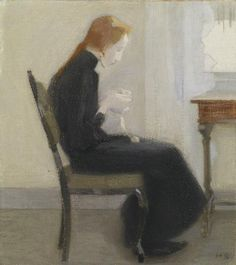 Helene Schjerfbeck Helene Schjerfbeck, Modigliani, Painting People, Figure Painting, Expressionist Artists, Abstract Images, Portrait Illustration, Sculpture, Modern Art