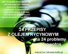 Olej rycynowy leczy 24 problemy zdrowotne! 24 PRZEPISY Z OLEJEM RYCYNOWYM Natural Home Remedies, Health, Movie Posters, Fit, Natural Remedies, Health Care, Shape, Film Poster, Billboard