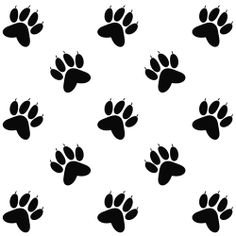 cat paw prints images | Free paper crafts to download, Cat paw prints black and white backing ...