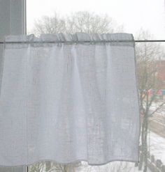 Curtain Burlap Curtains Cafe Curtains Linen by Initasworks on Etsy