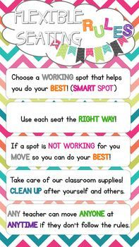 This poster is perfect for any classroom using flexible seating/alternative…