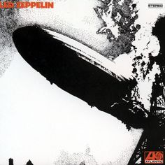 Led Zeppelin — 'Led Zeppelin' Led Zeppelin's 1968 self-titled debut album changed the rock world forever. Its cover features a black and white photo of the Hindenburg airship going down in flames in 1937. The photo was chosen by guitarist Jimmy Page as a reference to how the band supposedly chose its name. As legend would have it, Page was told his newly-formed group would go down like a lead zeppelin. History, of course, proved that sentiment wrong.