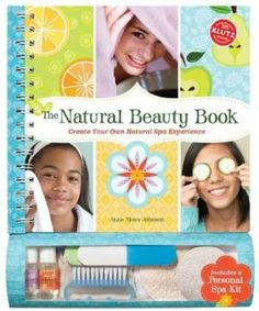 Klutz - Natural Beauty Book by Klutz Press. $24.95. Filled with wonderful ways to treat your skin, hair and nails. A celebration of beauty without artifice. An ideal title for tweens on up. Step-by-step directions. All made using easy-to-find ingredients from your kitchen cupboard. Attached to the book is a complete personal home spa kit. A complete home spa experience in a book. The Natural Beauty Book features more than 60 simple recipes, for everything from bath salts and fac...