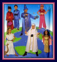 I DREAM of GENIE-CLEOPATRA-Children's Costume Sewing Pattern-Dashing Sheik-Cleopatra-Greek Goddess-Wizard-Geisha-Kimono-Uncut-Size 3-8-Rare by FarfallaDesignStudio on Etsy