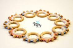Baby toy crochet teething toy baby teether by TheKnitteryLT