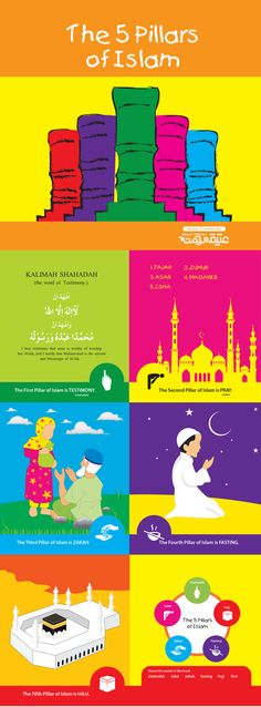 The Five Pillar of Islam, this is my another part of Lesson in Islam series. Inshaa Allah a gift for muslim kids.