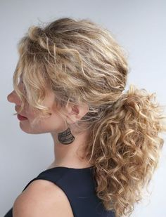 Messy Low Ponytail hairstyle