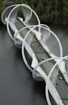 San Shan bridge in Beijing, China by Penda