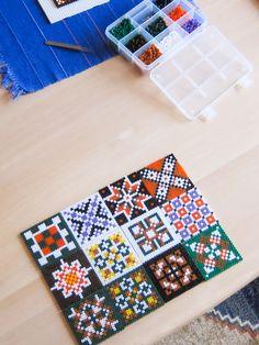 Hama bead tiles by Villi.Ingi