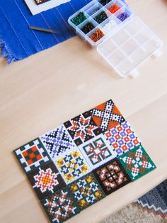Hama bead tiles by Villi.Ingi