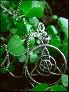 Necklace with triquetra & pentacle symbols combined Triquetra, Pentacle, Geeks, Magick, Witchcraft, Steampunk, Pagan Witch, Witches, Wiccan Jewelry