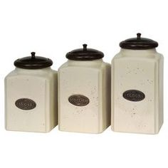 3 Piece Baker S Canister Set