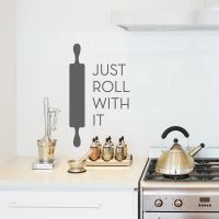 Just Roll With It - Rolling Pin - Wall Decal