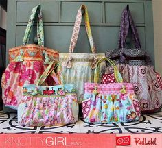 Knotty Girl Boho Bag Sewing Pattern...like the larger bags