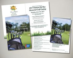 American Cancer Society Patricia del Rey Memorial Golf Outing held on Staten Island, NY invitation design
