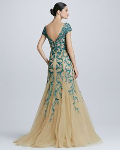 embroidered tulle dress green - Buscar con Google