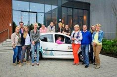 A bunch of collegues and me (in the car), Dordrecht The Netherlands