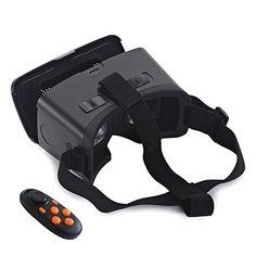 Andoer® CST-06 Head-Mounted Google Cartón Versión 3D VR Gafas de Realidad Virtual DIY 3D VR - http://complementoideal.com/producto/tienda-socios/andoer-cst-06-head-mounted-google-cartn-versin-3d-vr-gafas-de-realidad-virtual-diy-3d-vr-vdeo-pelcula-juego-gafas-con-csy-02-mini-multifuncional-inalmbrico-bluetooth-v3-0-selfie-obturador-de-la-cmara/