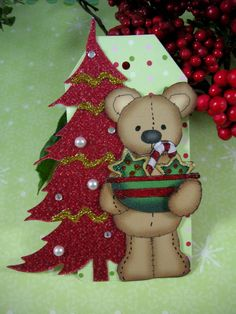 Christmas Bear TAGChristmas Tag by SpiritedScrapSisters on Etsy, $2.29