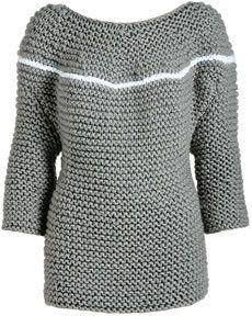 Blog de personallaselinhas :A História do tricot, Blusa em trico de pontos grandes