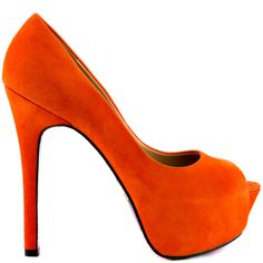 Awaken your fashion spirit in the bright and beautiful Reva by Taylor Says.  An enchanting orange suede drapes over the leather upper and silhouette.  A smiling Buddha is printed on the bottom of the sole to add luck to every step taken.  Last but not least is a 5 1/4 inch stiletto heel and 1 1/2 inch peep toe platform.