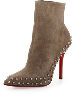 Christian Louboutin Willetta Suede Red Sole Bootie on shopstyle.com