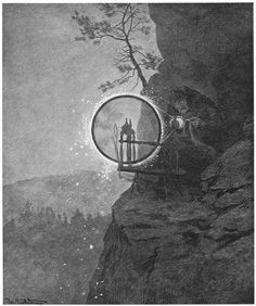 (Note: Kittelsen, was a Norwegian artist of nature paintings as well as illustrations of fairy tales and legends, especially trolls. Black metal bands have used his work on their albums as well as his. Theodore Kittelsen, Tarot, Witch Painting, Witch Art, Most Famous Paintings, Art Database, Oil Painting Reproductions, Nature Paintings, Occult