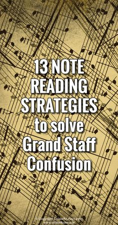 Getting students to see the grand staff clearly with note name strategies