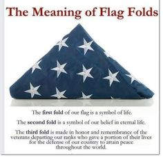 what do the folds in the flag mean