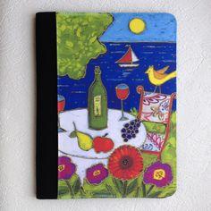 Grand carnet de notes • L'apéro au bord du lac - reproductions des toiles d'isabelle Malo Isabelle, Reproduction, Canvases, Paper Mill