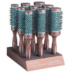 #180 Spornette Ion Fusion 9-pc. Ceramic Aerated Brush Display http://www.creativebeautyconcepts.com/CategoryProductList.jsp?cat=BROWSE+BY+BRANDS:Spornette
