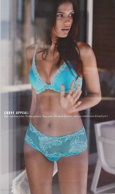 Natori Feathers Bra and Briefs as seen in the Nordstrom Catalog February 2014 #natori #feathersbra #nordstrom #turquoise