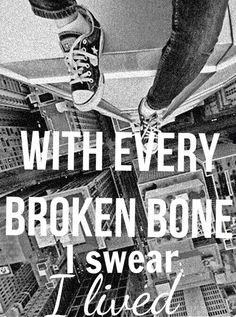 OneRepublic I Lived lyrics - with every struggles and trials, pain, and sacrifices, I swear I lived.