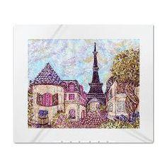 http://www.cafepress.com/kristiehublerparisfrancelasvegas.754109915 #Paris and #EiffelTower #ParisLasVegas #resort #shop #facades #France #landscape #cityscape #pointillism #king #duvet $191.99 #bedding #comforter #cover #bed at #cafepress #famous #landmark