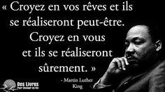 """"""" Croyez en vos rêves et ils se réaliseront peut-être. Croyez en vous et ils se réaliseront sûrement."""" - Martin Luther King #martin_luther_king #reve #croire_en_soi http://www.des-livres-pour-changer-de-vie.fr/ ;)"""