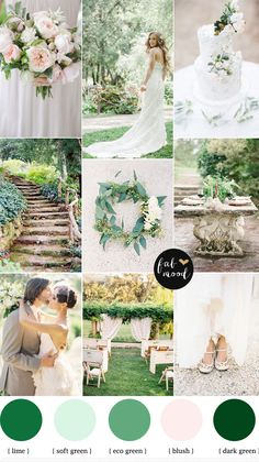 Green and pink garden wedding - see more http://fabmood.com/garden-wedding-ideas/