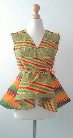 Ankara Top African Clothing African Print Top by Sosomeshop
