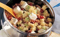 Couscous salat med avocado og soltørrede tomater