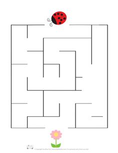 Symbols, Letters, School, Maze, Spring, Labyrinths, Note Cards, Insects, Ladybugs