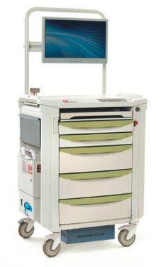 FEEL THE POWER and Flex Your Options with Metro's Flexline Mobile Computing Cart.  Enjoy untethered freedom to move about a room or floor to floor.  This Treatment Cart is paired with an All-In-One Tangent Vita 2000SA computer and a Lithium Nano power supply.