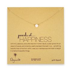 Pearls of Happiness - white pearl necklace | Dogeared (one of my favorite brands for dainty jewelry)