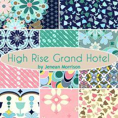 High Rise Grand Hotel Fat Quarter Bundle Jenean Morrison for Free Spirit Fabrics - Fat Quarter Shop