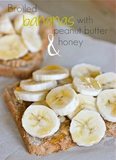 some of my favorite things:  bananas, peanut butter and honey
